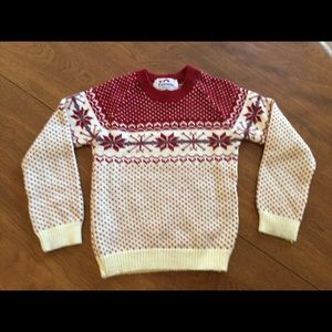 Vintage Boy's Snowflake Ski Sweater